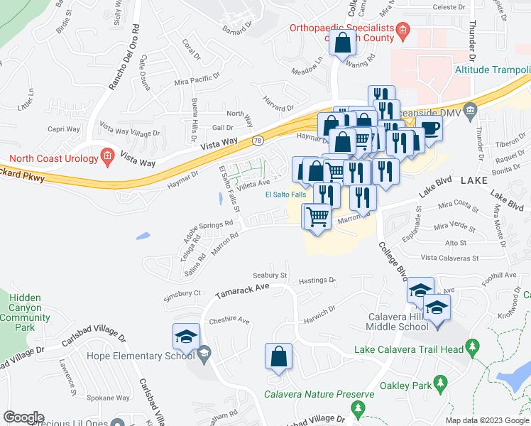 Campo Azul Court Carlsbad CA Walk Score - Carlsbad ca map