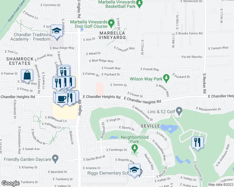 Map Of Arizona Gilbert.3447 East Flower Street Gilbert Az Walk Score