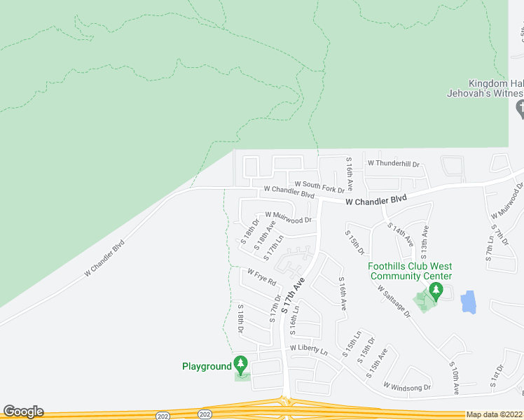 map of restaurants, bars, coffee shops, grocery stores, and more near 1822 West Muirwood Drive in Phoenix