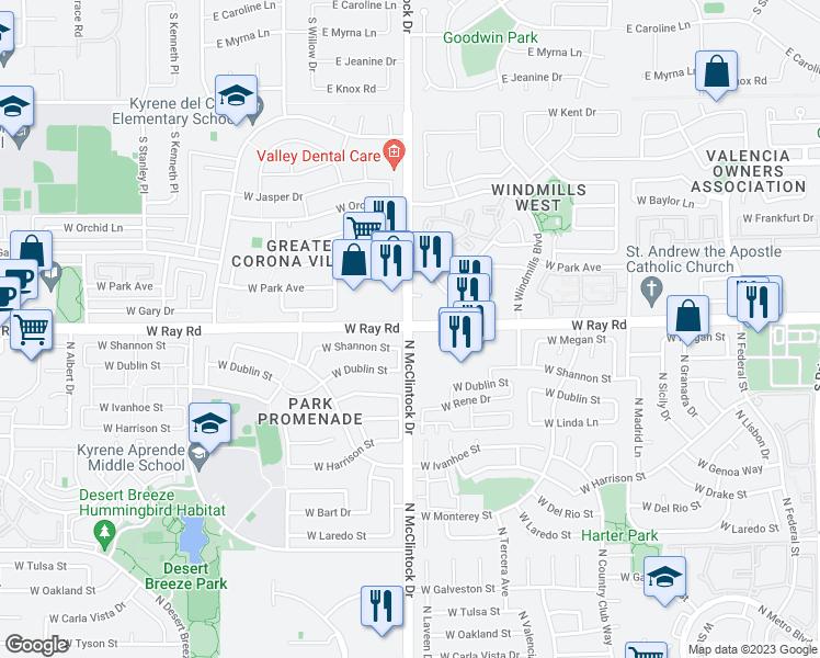 West Ray Road & North McClintock Drive, Chandler AZ - Walk Score Chandler Az Map on