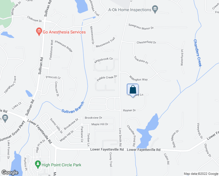 map of restaurants, bars, coffee shops, grocery stores, and more near 88 Pebble Creek Drive in Newnan