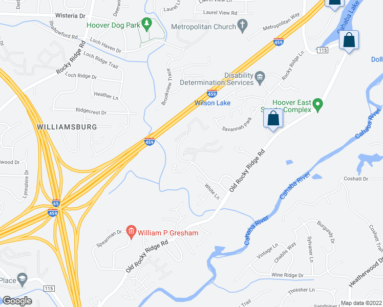 map of restaurants, bars, coffee shops, grocery stores, and more near 3741 Chestnut Ridge Lane in Birmingham