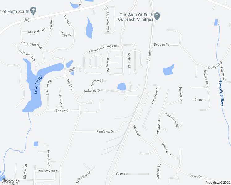 map of restaurants, bars, coffee shops, grocery stores, and more near 202 Makenna Drive in Hampton