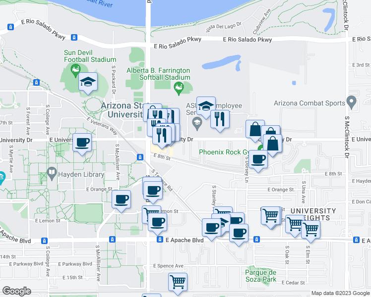 Arizona State University Tempe Campus Map.1015 East University Drive Tempe Az Walk Score