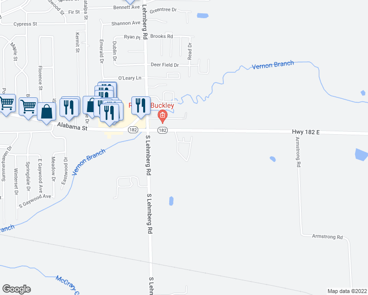 map of restaurants, bars, coffee shops, grocery stores, and more near 3946 Highway 182 East in Columbus