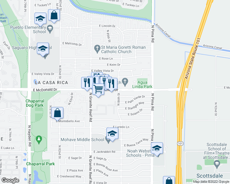 8533 East McDonald Drive, Scottsdale AZ - Walk Score