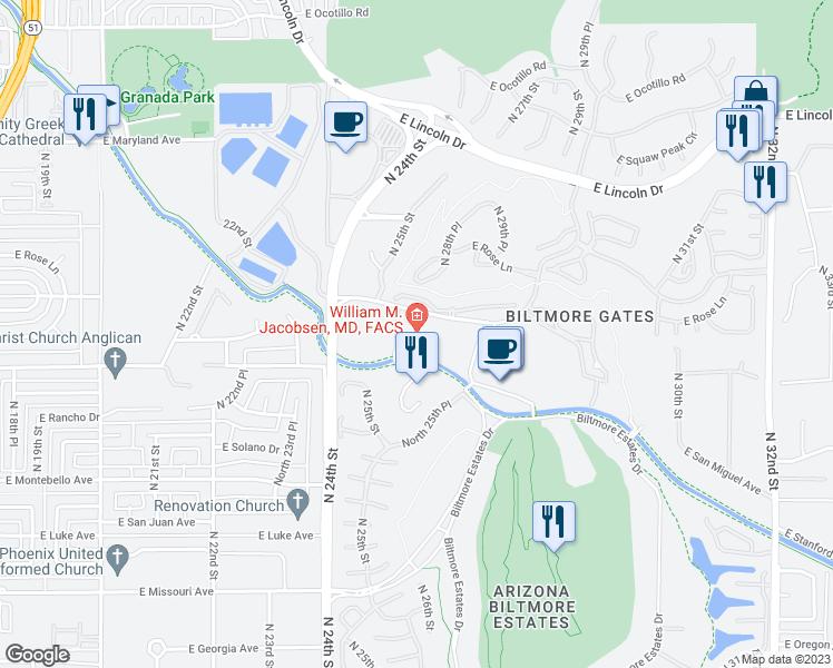 2525 East Arizona Biltmore Circle, Phoenix AZ - Walk Score