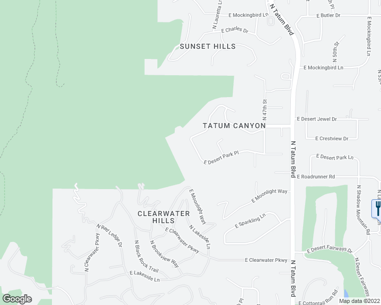 map of restaurants, bars, coffee shops, grocery stores, and more near 4517 East Desert Park Place in Paradise Valley