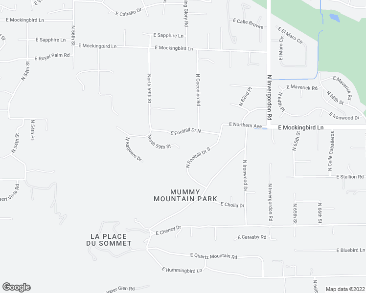 map of restaurants, bars, coffee shops, grocery stores, and more near 7805 North Mohave Road in Paradise Valley