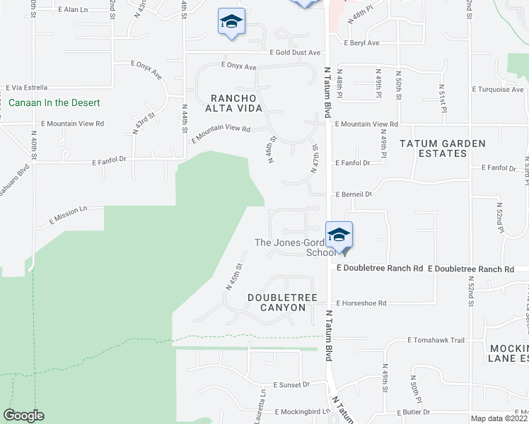 map of restaurants, bars, coffee shops, grocery stores, and more near 4602 East Berneil Drive in Phoenix