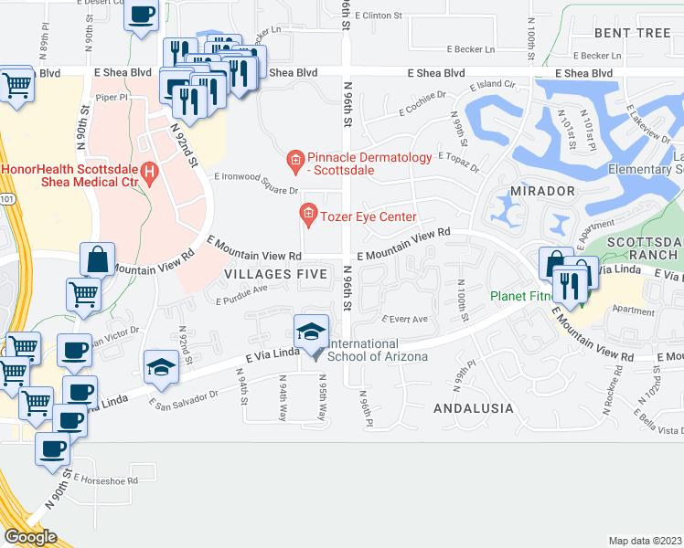 9750 North 96th Street, Scottsdale AZ - Walk Score