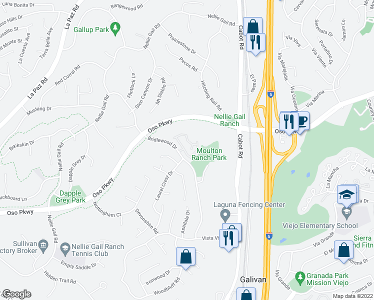 map of restaurants, bars, coffee shops, grocery stores, and more near 26391 La Traviata in Laguna Hills