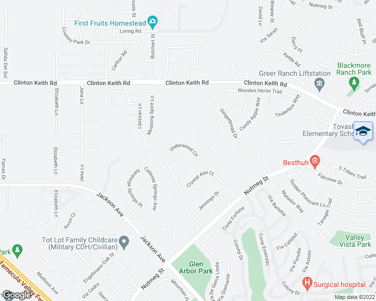 map of restaurants, bars, coffee shops, grocery stores, and more near 23567 Underwood Circle in Murrieta