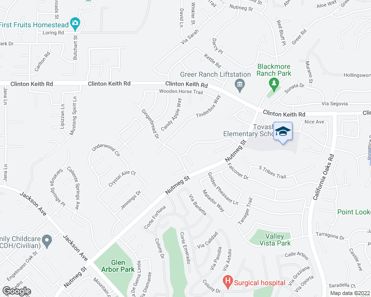 map of restaurants, bars, coffee shops, grocery stores, and more near 23754 Marin Court in Murrieta