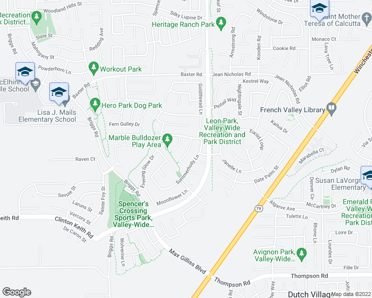 map of restaurants, bars, coffee shops, grocery stores, and more near 35359 Stonecrop Court in Murrieta