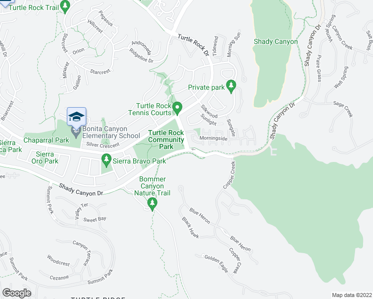map of restaurants, bars, coffee shops, grocery stores, and more near 100 Sunnyhill in Irvine