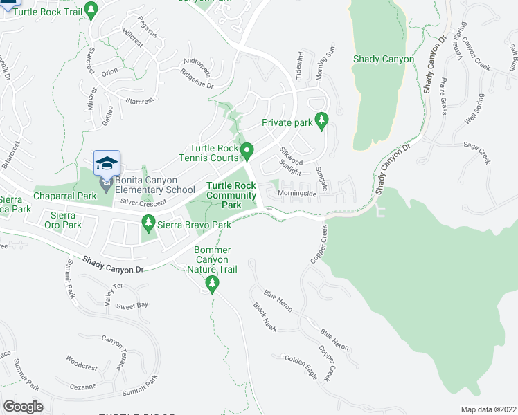 map of restaurants, bars, coffee shops, grocery stores, and more near 88 Sunnyhill in Irvine