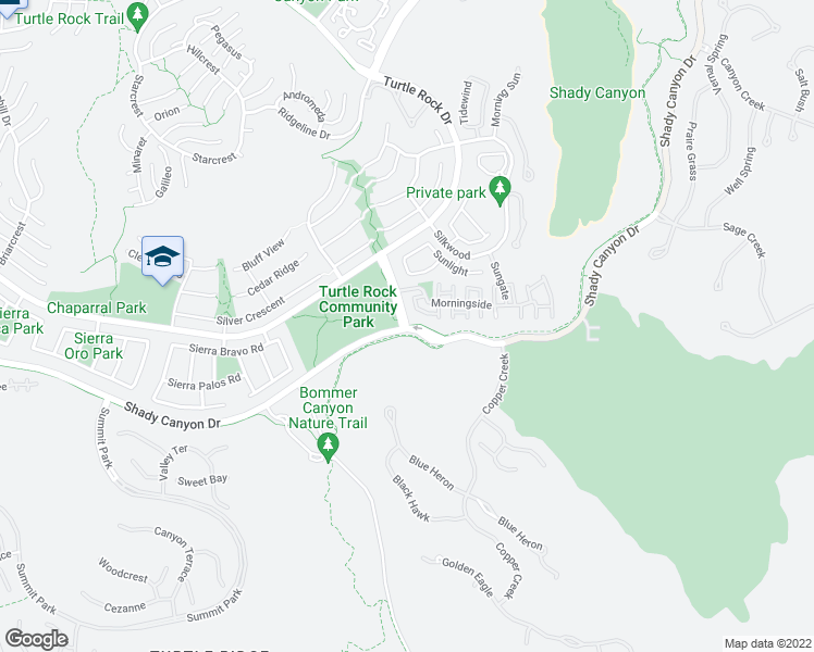 map of restaurants, bars, coffee shops, grocery stores, and more near 91 Sunnyhill in Irvine