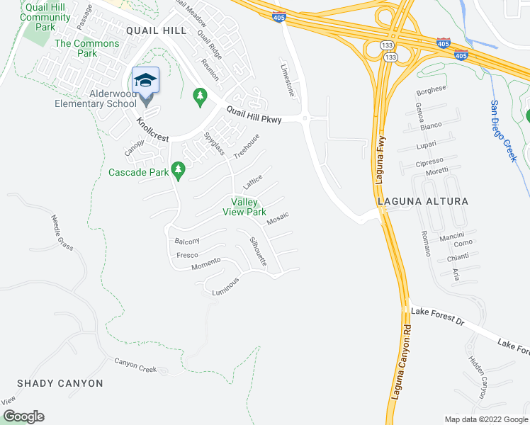 map of restaurants, bars, coffee shops, grocery stores, and more near 116 Retreat in Irvine