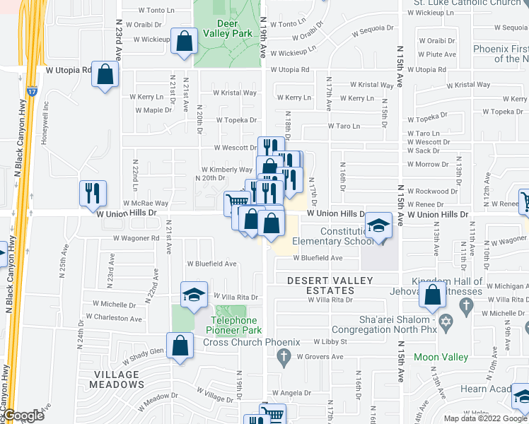 Map Of Restaurants Bars Coffee Shops Grocery Stores And More Near N