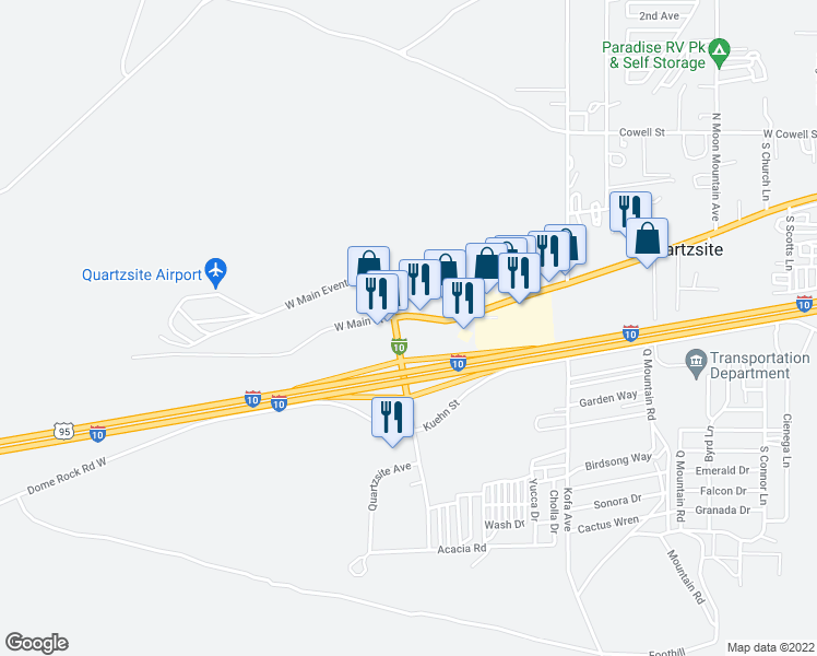 1395 West Main Street, Quartzsite AZ - Walk Score Quartzsite Az Map on