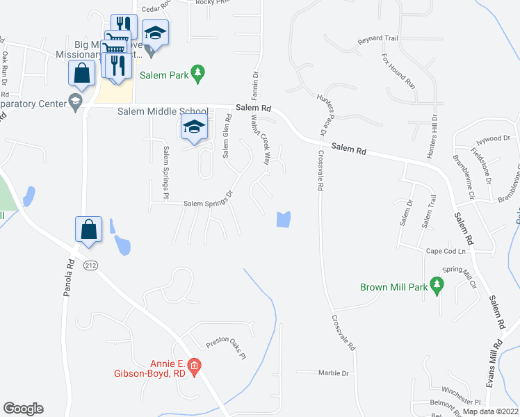 map of restaurants, bars, coffee shops, grocery stores, and more near 3768 Walnut Creek Way in Lithonia
