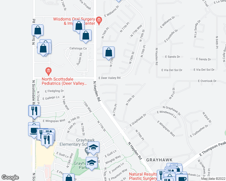 7714 East Fledgling Drive, Scottsdale AZ - Walk Score
