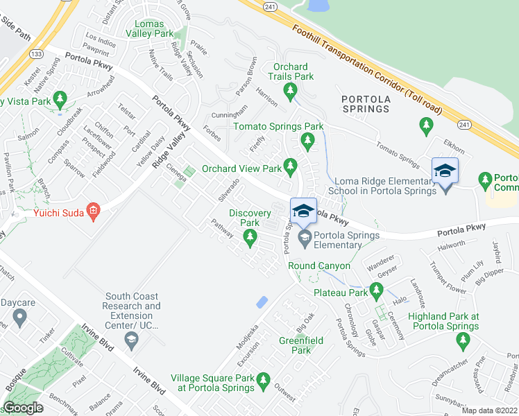 map of restaurants, bars, coffee shops, grocery stores, and more near 3102 Archway in Irvine