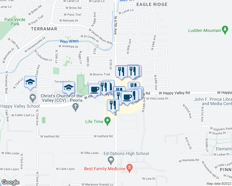 Restaurants Near Th Ave And Happy Valley