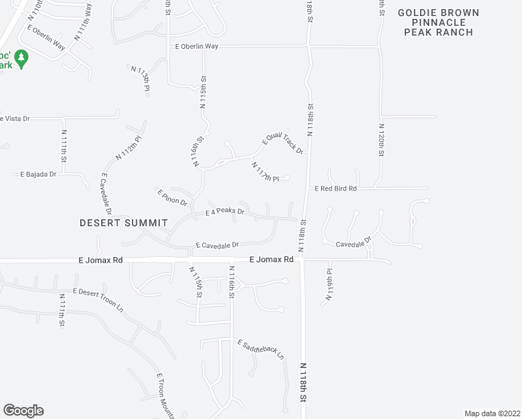 map of restaurants, bars, coffee shops, grocery stores, and more near 26862 North 116th Way in Scottsdale