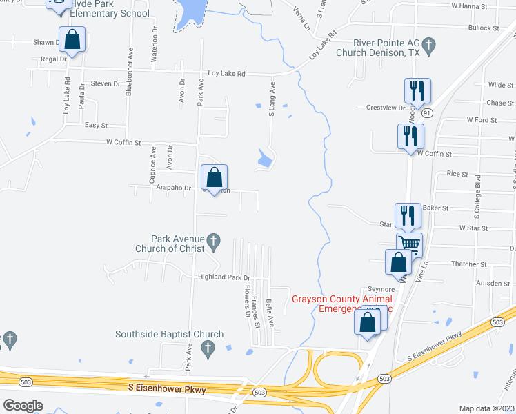 2804 Deer Meadow, Denison TX - Walk Score Denison Texas Map on