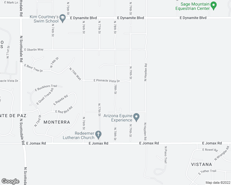 map of restaurants, bars, coffee shops, grocery stores, and more near 78th Street in Scottsdale