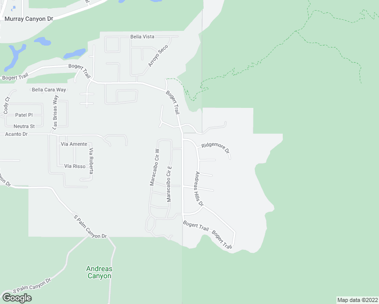 map of restaurants, bars, coffee shops, grocery stores, and more near 3355 Andreas Hills Drive in Palm Springs