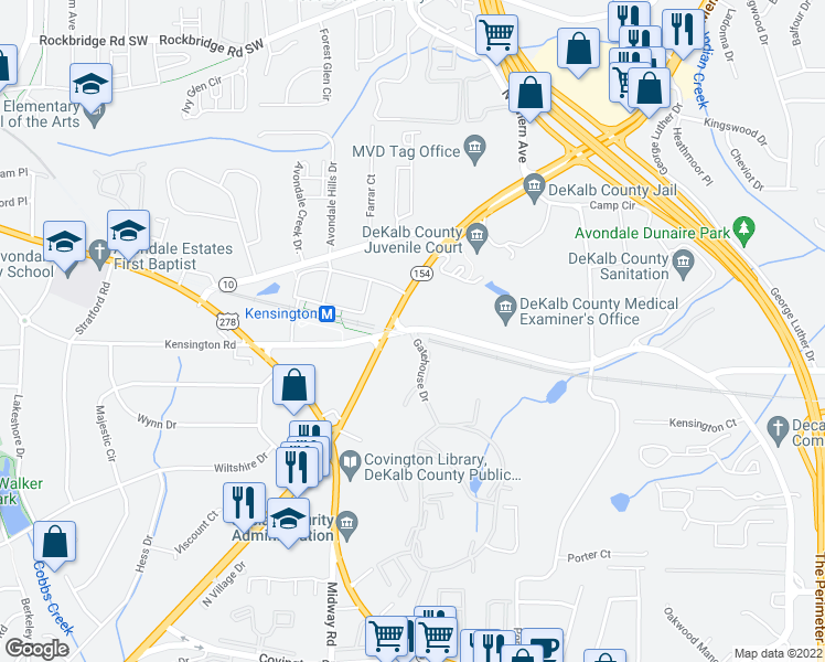 map of restaurants, bars, coffee shops, grocery stores, and more near 4254 Memorial Drive in Decatur