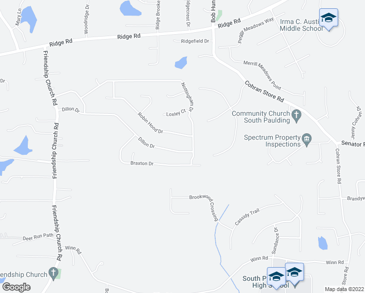 map of restaurants, bars, coffee shops, grocery stores, and more near 27 Robin Hood Drive in Do