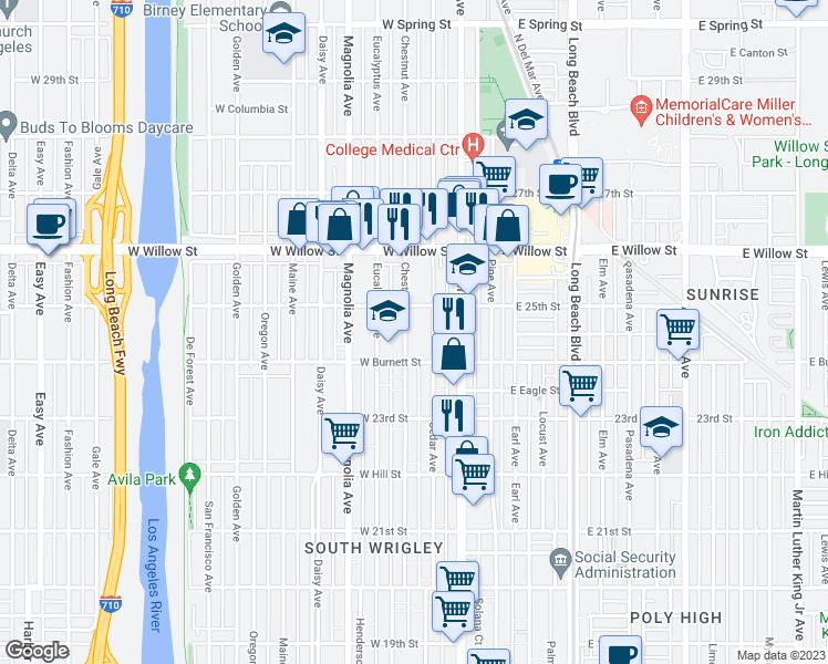 Map Of Restaurants Bars Coffee S Grocery Ore Near 2450