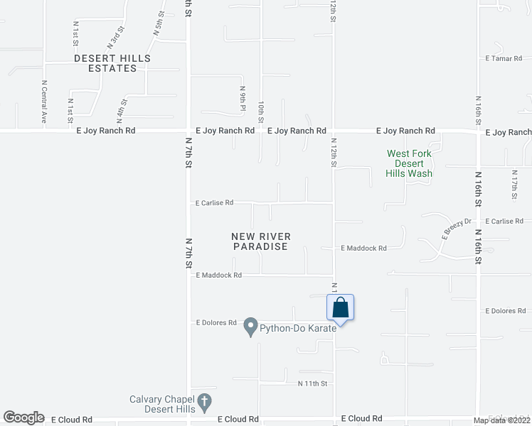 map of restaurants, bars, coffee shops, grocery stores, and more near 1009 East Carlise Road in Phoenix