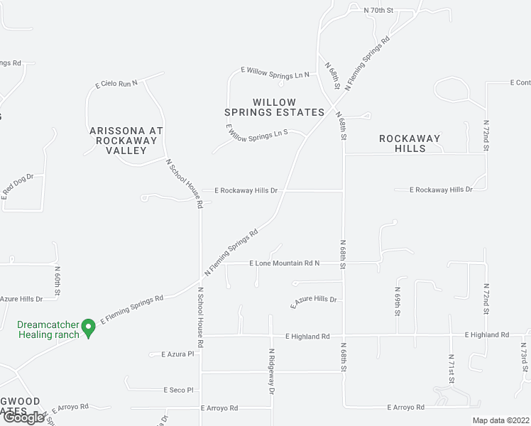 map of restaurants, bars, coffee shops, grocery stores, and more near 40816 North Fleming Springs Road in Cave Creek