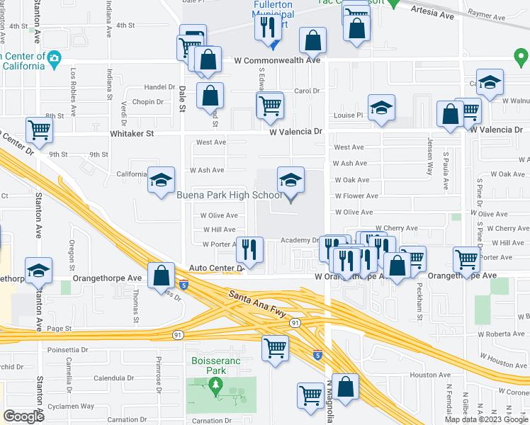 8833 Academy Drive, Buena Park CA - Walk Score