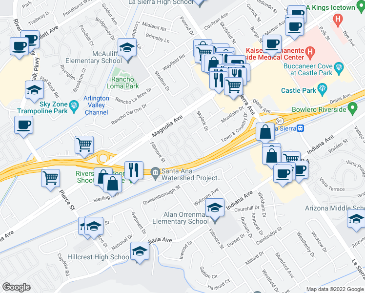 Map Of Restaurants Bars Coffee Shops Grocery Stores And More Near Rancho