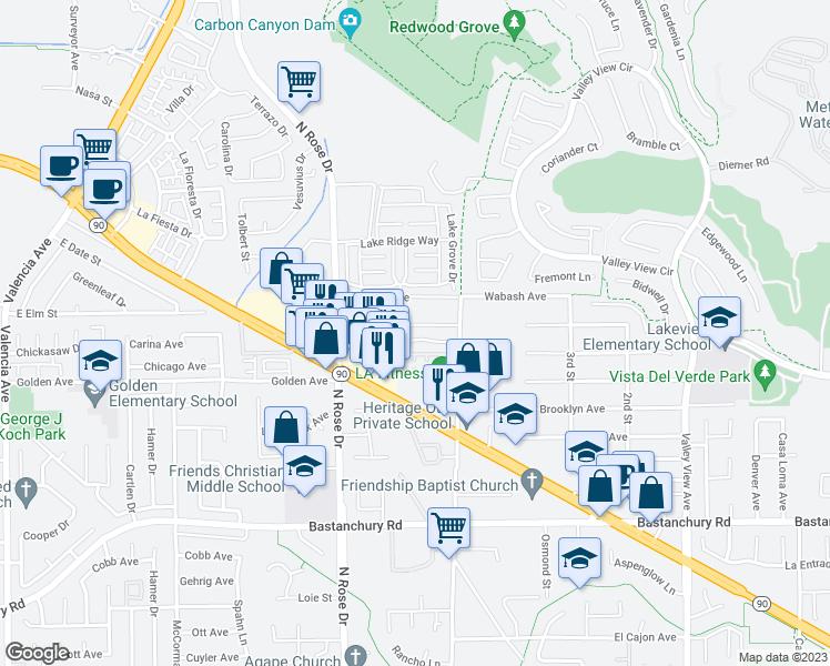 Where Is Yorba Linda California Map.16925 Mariah Court Yorba Linda Ca Walk Score