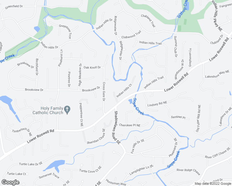 map of restaurants, bars, coffee shops, grocery stores, and more near 141 Indian Hills Court in Marietta