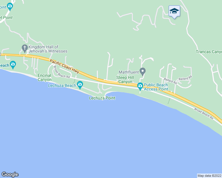 map of restaurants, bars, coffee shops, grocery stores, and more near 31506 Victoria Point Road in Malibu