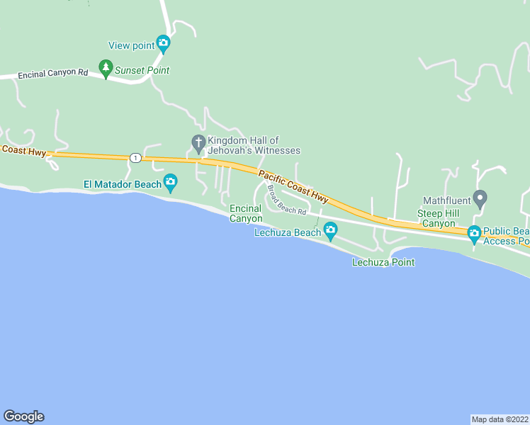 map of restaurants, bars, coffee shops, grocery stores, and more near 31824 Seafield Drive in Malibu