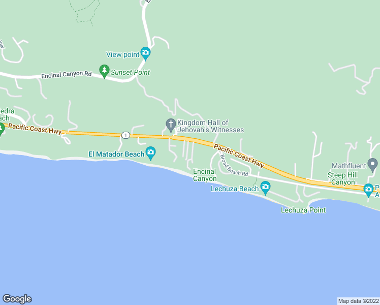 map of restaurants, bars, coffee shops, grocery stores, and more near 31964 Pacific Coast Highway in Malibu