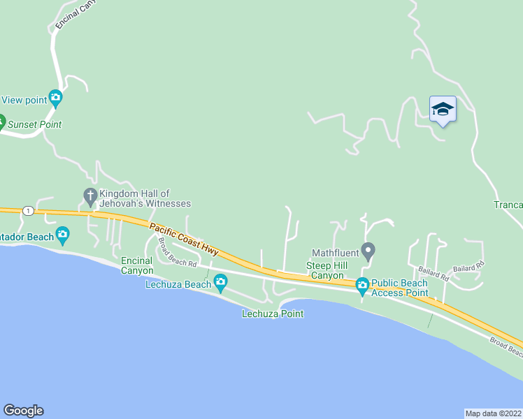 map of restaurants, bars, coffee shops, grocery stores, and more near 31577 Pacific Coast Highway in Malibu