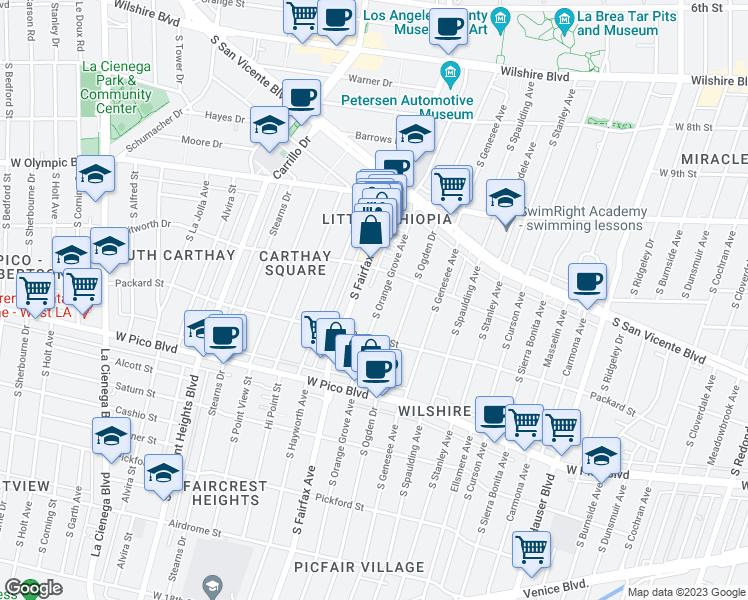 Orange Grove California Map.1213 South Orange Grove Avenue Los Angeles Ca Walk Score