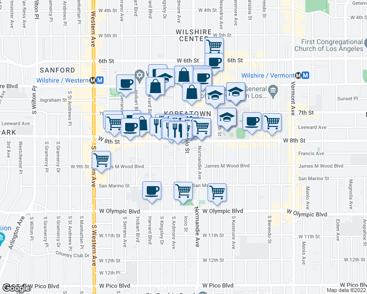 Map Of Restaurants Bars Coffee Shops Grocery Stores And More Near 815