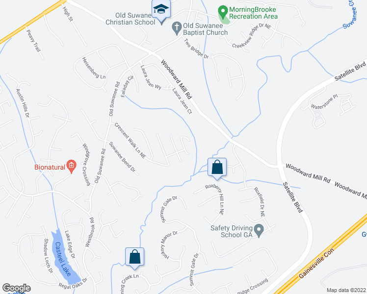 map of restaurants, bars, coffee shops, grocery stores, and more near 3874 Tristan Way in Suwanee
