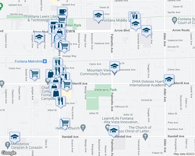 8865 Blanchard Ave, Fontana CA - Walk Score on new kaiser hospital downey ca, kaiser hospital san rafael ca, map of kaiser in south ca, kaiser permenete harbor city ca,